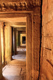 Corridor in an Ankor Wat temple Royalty Free Stock Photos