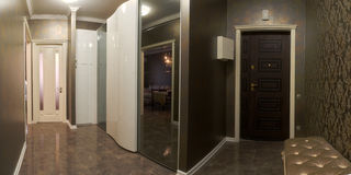 Corridor in the apartment Royalty Free Stock Photos