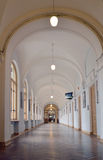 Corridor. With arched ceilings corridor at the University Royalty Free Stock Photo