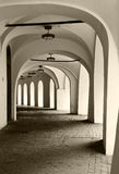 Corridor With Arches Royalty Free Stock Photography