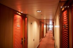 Corridor At Cruise Ship Royalty Free Stock Images