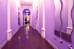 Corridor in barbershop Stock Image