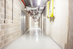 Corridor in the basement. In the basement there is an corridor Royalty Free Stock Image