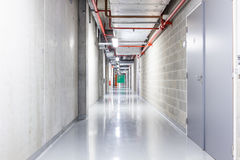 Corridor in the basement. In the basement there is an corridor Stock Photography