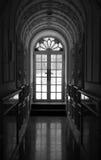 Corridor. A black and white Corridor photo Stock Images