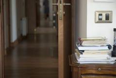 Corridor and books Royalty Free Stock Photo