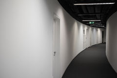 Corridor of business building with black ceiling Royalty Free Stock Photos