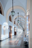 Corridor in business, cultural and shopping center. In Moscow Royalty Free Stock Photos