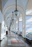 Corridor in business, cultural and shopping center. In Moscow Royalty Free Stock Images