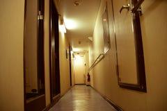 Corridor on a cargo ship stock photography