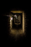 Corridor of the catacombs of Paris Stock Photo