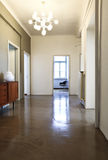 Corridor with chandelier retro Royalty Free Stock Photo
