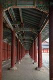 Corridor at the Changgyeonggung Palace in Seoul Royalty Free Stock Images