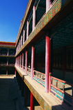 Corridor in Chengde Tibetan Buddhism monastery Royalty Free Stock Photography