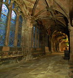 Corridor in Chester Cathedral Stock Photos
