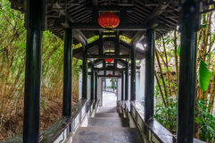 Corridor. A Chinese style style corridor in the park Royalty Free Stock Image