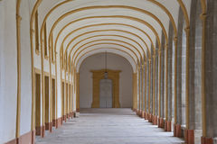 Corridor of a cloister in cluny abbey Stock Image