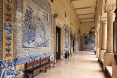 Corridor. College of Sao Tomas. Coimbra. Portugal Royalty Free Stock Photo