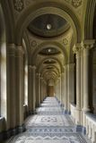 Corridor with colonnade. And mosaics stock photography