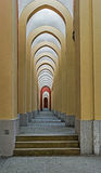 Corridor with a colonnade Stock Photography