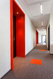 Corridor with colorful floor Royalty Free Stock Photography