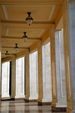Corridor with columns. And chandeliers Stock Photography