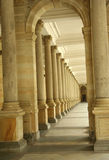 Corridor of columns, hallway. In Paris,France Stock Image