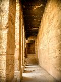 Corridor of columns at the Karnak temple in Luxor (Egypt) Royalty Free Stock Photos