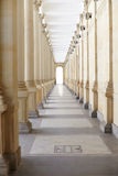 Corridor with columns. Long corridor with columns in an old building Stock Images
