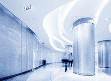 Corridor and the crowd Royalty Free Stock Photography