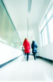 Corridor and the crowd Royalty Free Stock Image