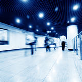Corridor and the crowd Royalty Free Stock Photo