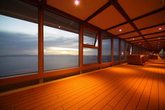 Corridor on cruise ship. Royalty Free Stock Photo