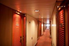 Corridor at cruise ship Royalty Free Stock Images