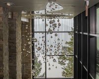 100,000$ Corridor. Crystals Hang from over head totaling 100,00 Royalty Free Stock Photo