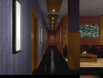 Corridor. 3D interior : Commercial Stock Images