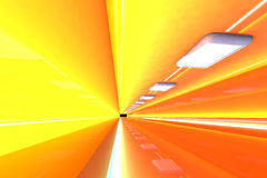 Corridor. A 3D rendered architecture interior of a tunnel Royalty Free Stock Images