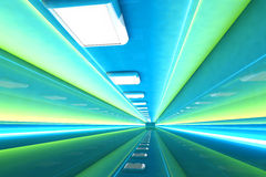 Corridor. A 3D rendered architecture interior of a tunnel Stock Images