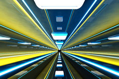Corridor. A 3D rendered architecture interior of a tunnel Stock Image