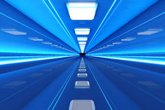 Corridor. A 3D rendered architecture interior of a tunnel Stock Photography