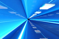 Corridor. A 3D rendered architecture interior of a tunnel Royalty Free Stock Photos