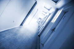 Corridor With Deep Perspective View Royalty Free Stock Image