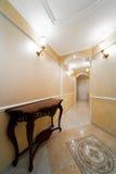 Corridor with a door Stock Photography