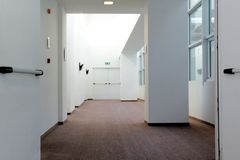 Corridor of doors Royalty Free Stock Photo