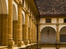 Corridor of Eggenberg Palace. Baroque arcaded corridor of Eggenberg Palace Royalty Free Stock Photography