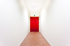 An corridor with an emergency exit Royalty Free Stock Image