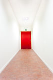 An corridor with an emergency exit Stock Image