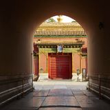 Corridor in forbidden city, Beijing Royalty Free Stock Photo