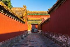 Corridor in Forbidden City Stock Photography