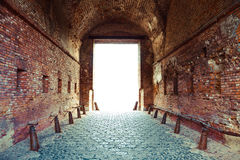 Corridor through the fortress Stock Images